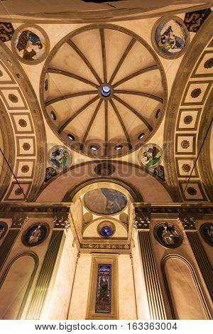 Dome Of Pazzi Chapel In Basilica Di Santa Croce