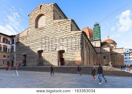 People Near Basilica Di San Lorenzo In Florence