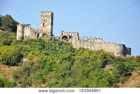 Ruined castles, villages Spitz, Wachau, Austria, Europe