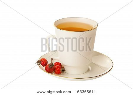 Delicious Hot Tea From Red Rosehip