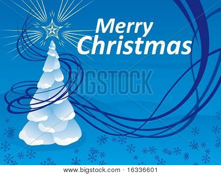abstract Christmas tree with space for text