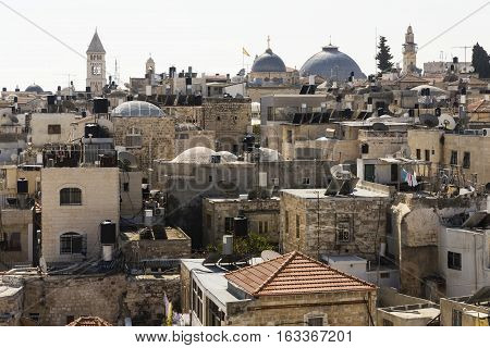 Old City of Jerusalem with the Church of the Holy Sepulchre Israel