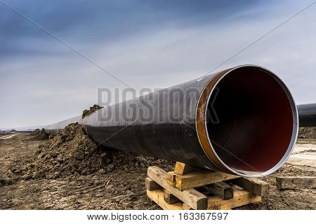 Construction Of Gas Pipeline Trans Adriatic Pipeline - Tap In North Greece.