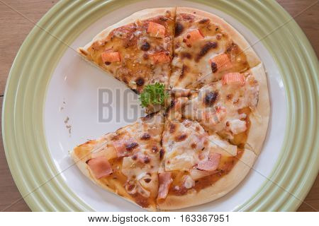 Homemade Pizza with Kanikama or Crab stick