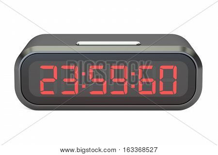 leap second on watches concept 3D rendering isolated on white background