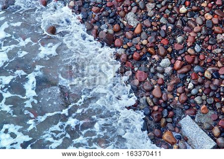 wet sea pebbles wet sea pebbles red stone oval striped