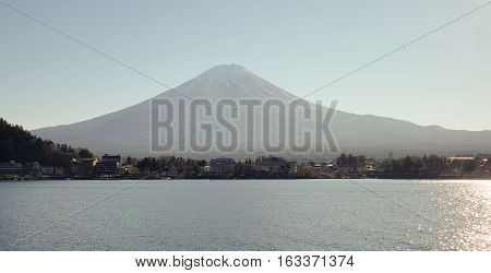 Mt Fuji And The Kawaguchiko Lake