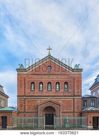 Saint Ansgar's Cathedral in Copenhagen Denmark is the principal church of the Roman Catholic Diocese of Copenhagen which encompasses all of Denmark.