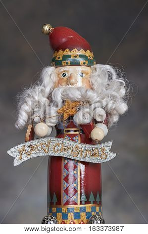 Christmas holiday season Santa Claus nutcracker ornament and decoration
