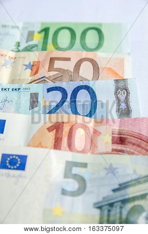 Euro currency paper money - 5 10 20 50 100