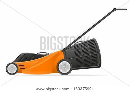 lawn mower stock vector illustration isolated on white background