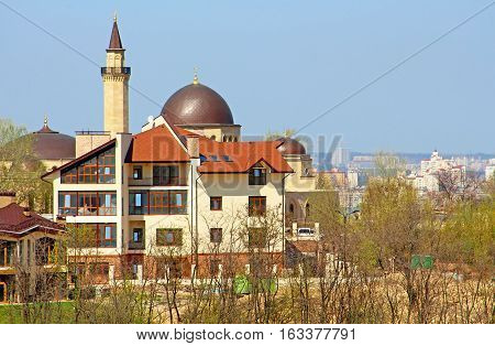 Mosque Ar-Rahma (Arabic - charity) - the first mosque in Kyiv, Ukraine. Is part of the Islamic complex which in addition to Ar-Rahma mosque includes madrasah and minaret.