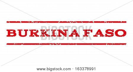 Burkina Faso watermark stamp. Text caption between horizontal parallel lines with grunge design style. Rubber seal stamp with dirty texture.