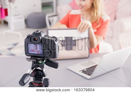 Fashion Blogger Filming Video