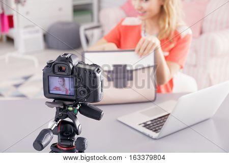 Fashion Blogger Filming Video
