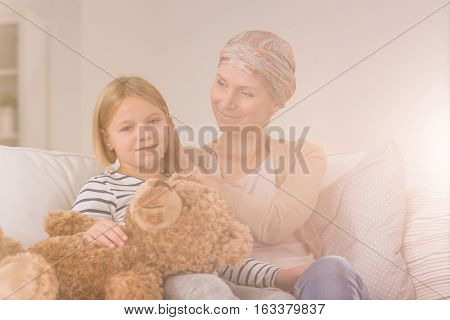 Cancer Woman With Daughter