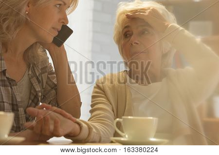 Woman Calling Help