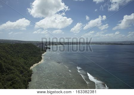 View of beach areas from Two Lovers Point in Guam