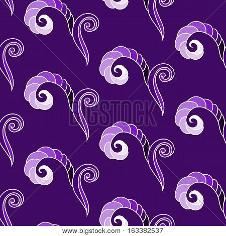 Seamless Pattern, Abstract Squiggles, Vector Illustration EPS10