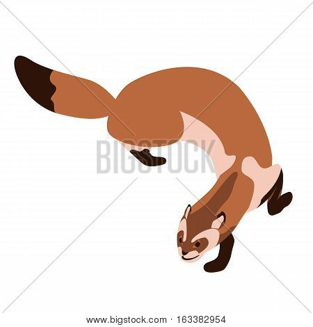 ferret vector illustration style Flat side profile