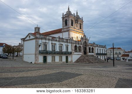 The Church of Nossa Senhora da Nazare (Church of Our Lady of Nazare) is an imposing church located on the hilltop O Sitio overlooking Nazare Portugal