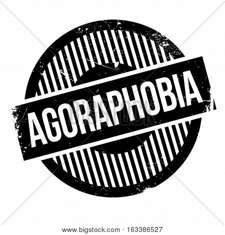 Agoraphobia rubber stamp. Grunge design with dust scratches. Effects can be easily removed for a clean, crisp look. Color is easily changed.