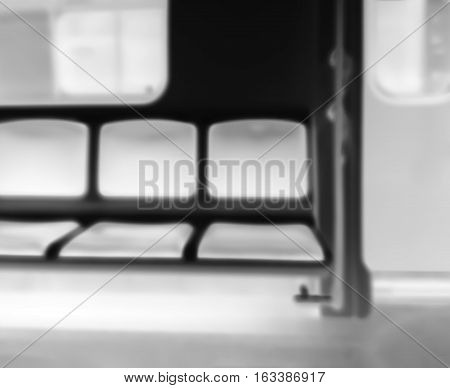 Inside Moscow metro carriage bokeh background hd