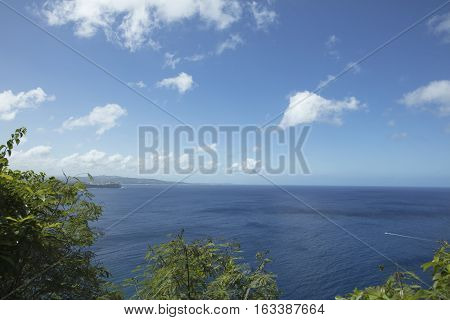View of the Pacific ocean from Two Lovers Point in Guam