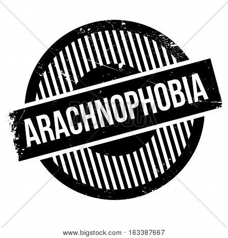 Arachnophobia rubber stamp. Grunge design with dust scratches. Effects can be easily removed for a clean, crisp look. Color is easily changed.
