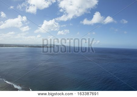 View of Pacific Ocean from Two Lovers Point in Guam
