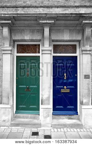 Two antique doors in London, England, United Kingdom
