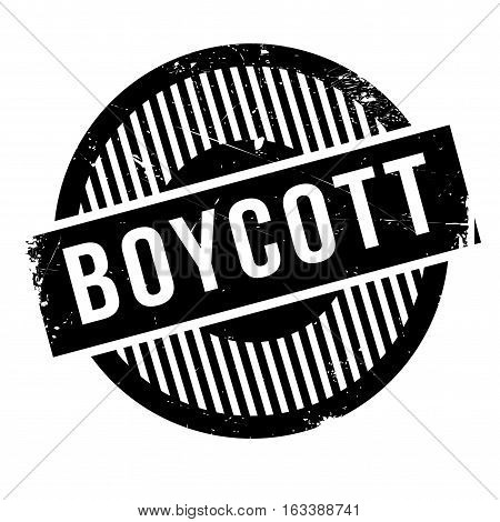 Boycott rubber stamp. Grunge design with dust scratches. Effects can be easily removed for a clean, crisp look. Color is easily changed.