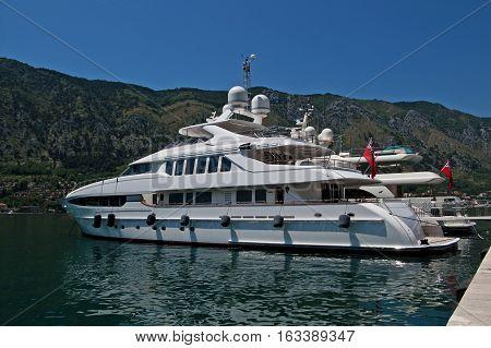 Luxury Yacht in the Mediterranean Sea, Montenegro