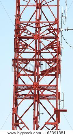 Telecom Tower Closeup .