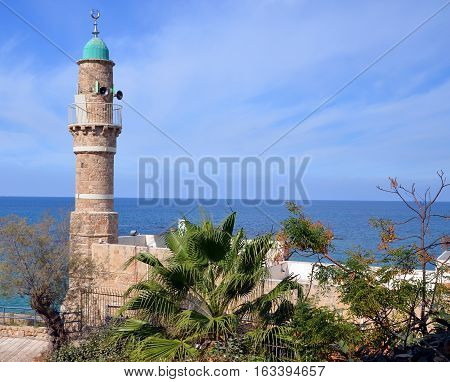 JAFFA ISRAEL 05 11 16: Al-Bahr Mosque or Masjid al-Bahr, meaning in all languages The Sea Mosque, is the oldest extant mosque in Jaffa, Israel.