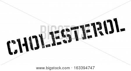 Cholesterol rubber stamp. Grunge design with dust scratches. Effects can be easily removed for a clean, crisp look. Color is easily changed.