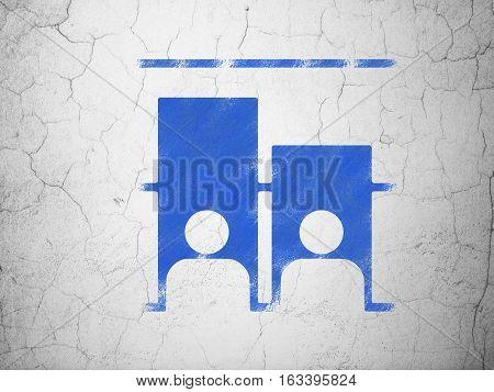 Politics concept: Blue Election on textured concrete wall background