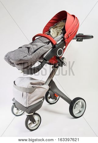 Norway elite baby carriage on a white background