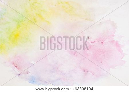Light background paper texture in soft shades of spring colors in blur style. Abstract watercolor background