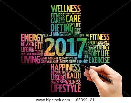 2017 Goals Health Word Cloud