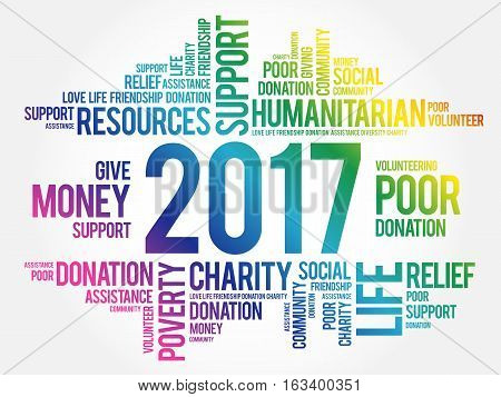 2017 help word cloud collage concept background