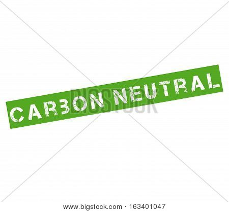 Rubber stamp label with text carbon neutral