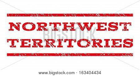 Northwest Territories watermark stamp. Text caption between horizontal parallel lines with grunge design style. Rubber seal stamp with dirty texture.