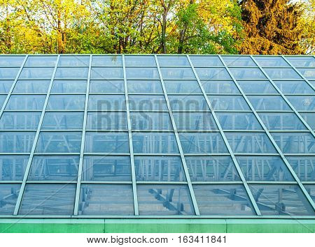 close up shot of the solid glasshouse