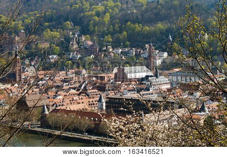 HEIDELBERG, GERMANY - MAR 29, 2014: View on the Heidelberg University. One of the oldest universities in Europe.