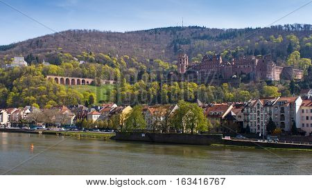 HEIDELBERG, GERMANY - MAR 29, 2014: Heidelberg Castle in Germany, Europe