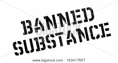 Banned Substance rubber stamp. Grunge design with dust scratches. Effects can be easily removed for a clean, crisp look. Color is easily changed.