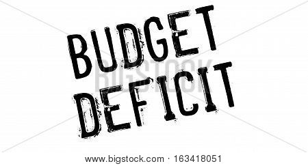 Budget Deficit rubber stamp. Grunge design with dust scratches. Effects can be easily removed for a clean, crisp look. Color is easily changed.