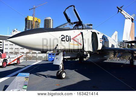 San Diego, California - Usa - Dec 04,2016 - Aircraft  F/a - 18 Phantom Ii Fighter