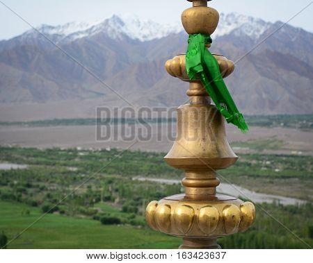 Top Of Bronze Relief At Tibetan Temple